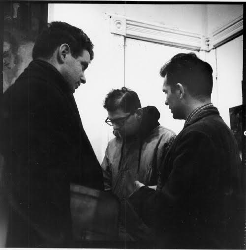 Jack Kerouac (right) with David Amram (left)