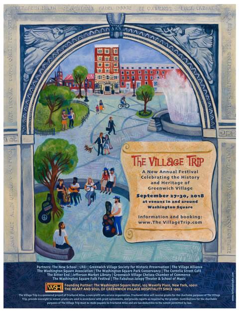 The Village Trip Poster by Lori Loebelsohn