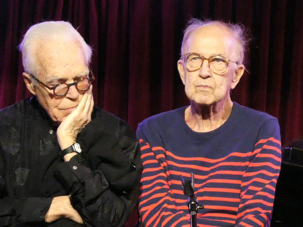 Robert Heide (right) and John Guare