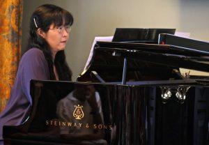 Yoshiko Kline (with sexophonist Ken Radnofsky) gives the premiere of David Amram's arrangement of his Greenwich Village Portraits