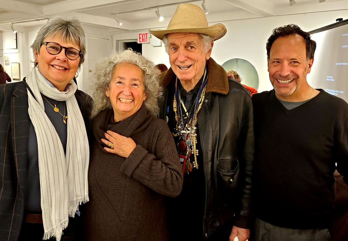 Nora Guthrie (second from left) with Liz Thomson, David Amram and Will Kaufman (photo Michael Spudic)