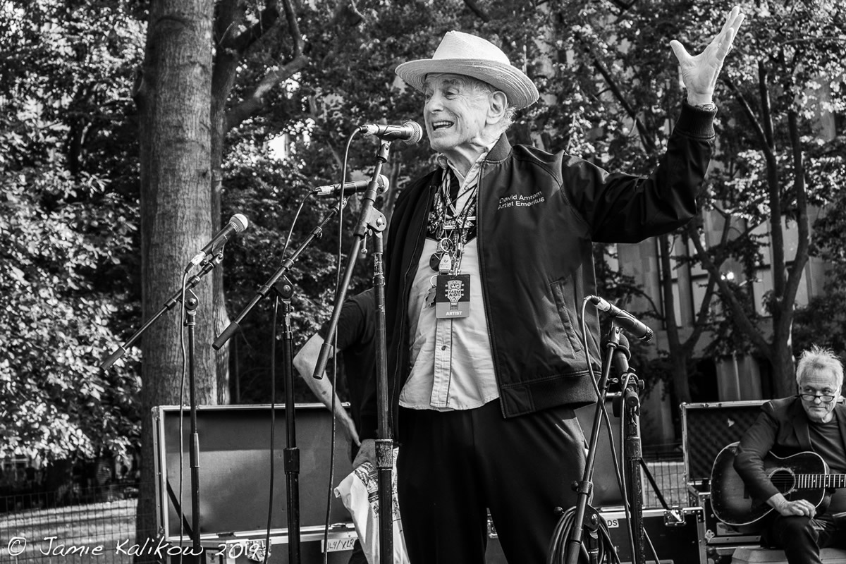 David Amram opens Bringing It All Back Home to Washington Square 2019