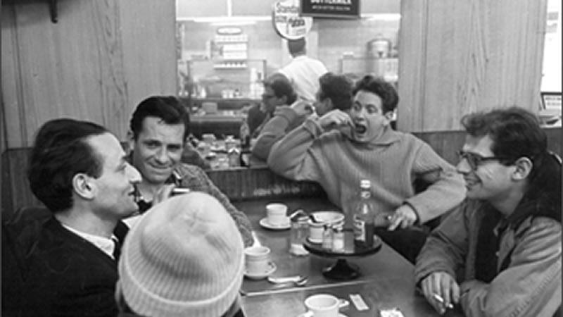 David Amram with Larry Rivers, Jack Kerouac, Allen Ginsberg, Gregory Corso