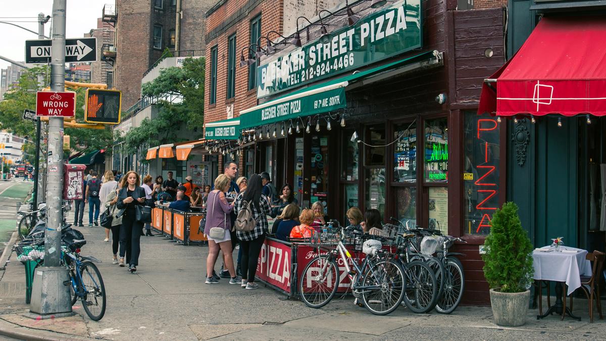 Food Tours Bleecker St Pizza Exterior