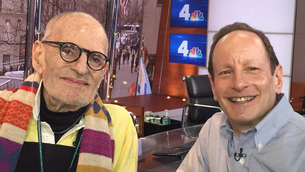 Larry Kramer (left) with Bill Goldstein