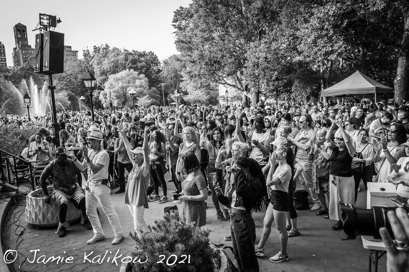 Crowds in the Park at The Village Trip 2021